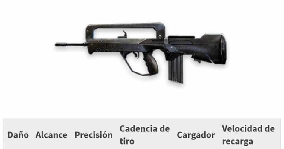 rifle de asalto free fire